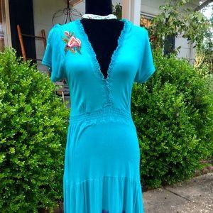 Dresses & Skirts - CAITE embroidered BOHO dress small ❤️